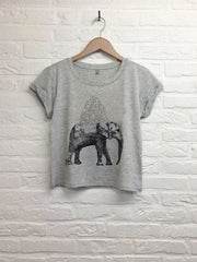 Elephant - Crop Top gris