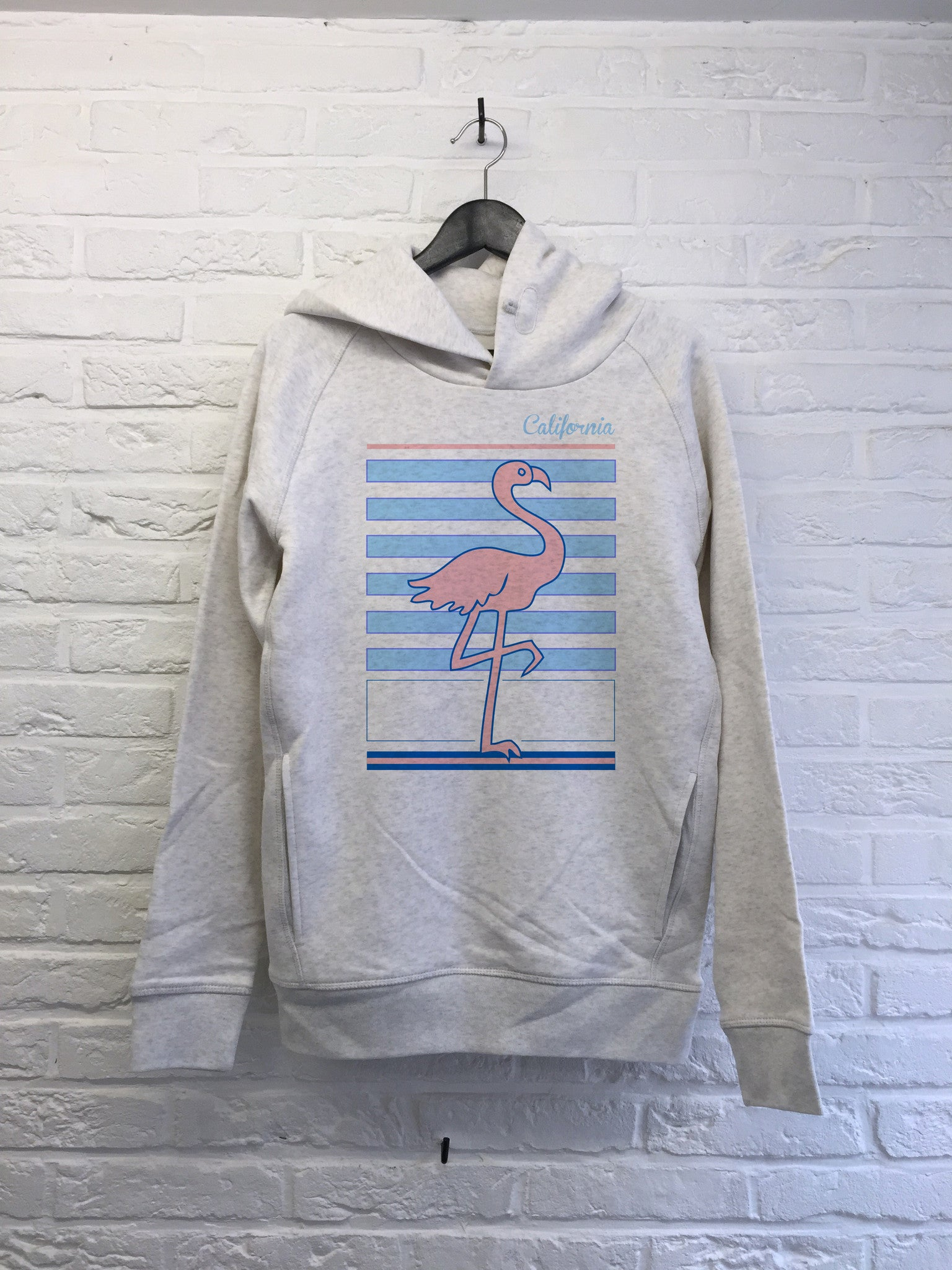 Flamant rose Californie - Hoodie Deluxe-Sweat shirts-Atelier Amelot