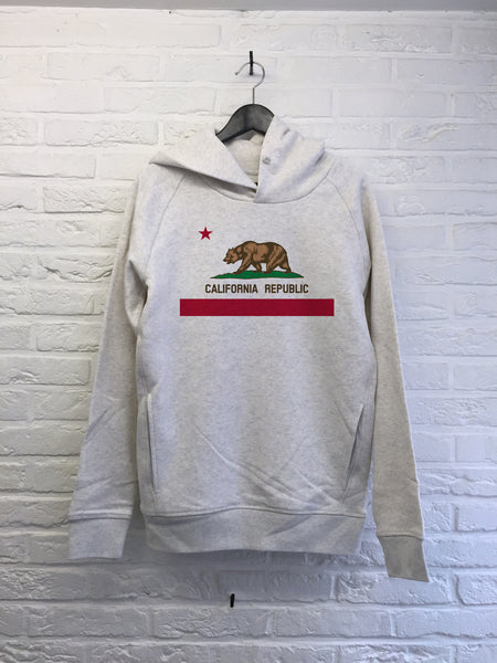 California Republic - Hoodie Deluxe Creme chine