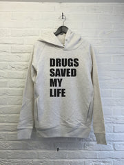 Drugs saved my life - Hoodie Deluxe Creme chine