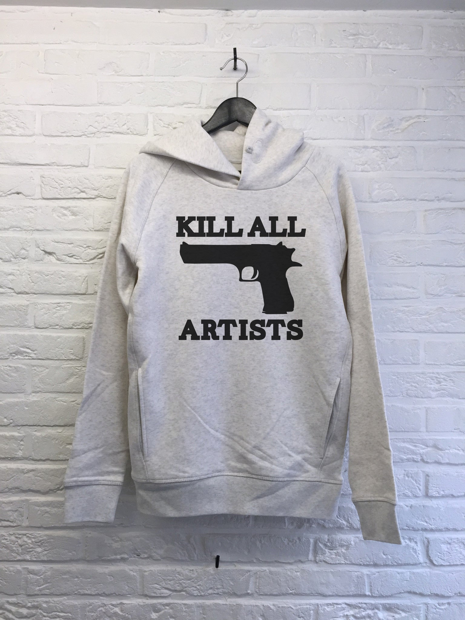 Kill all artists - Hoodie Deluxe Creme chine