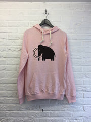 Old Mamooth - Hoodie Explore cream Pink
