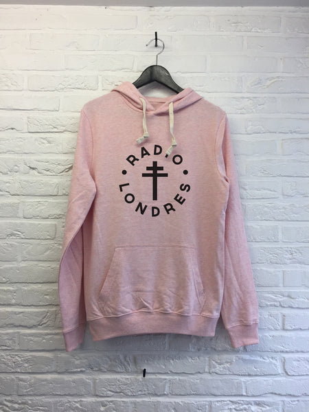 Radio Londres - Hoodie Explore cream Pink