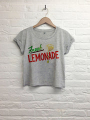 Th gallery -Fresh lemonade - Crop Top speckled Grey-T shirt-Atelier Amelot