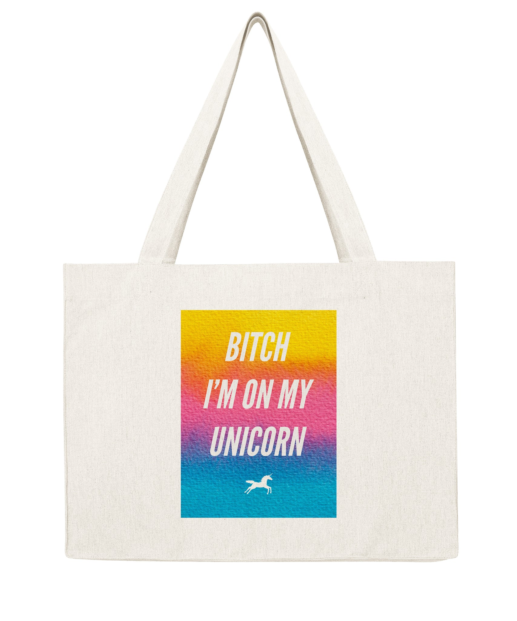 Bitch I'm on my unicorn - Shopping bag-Sacs-Atelier Amelot