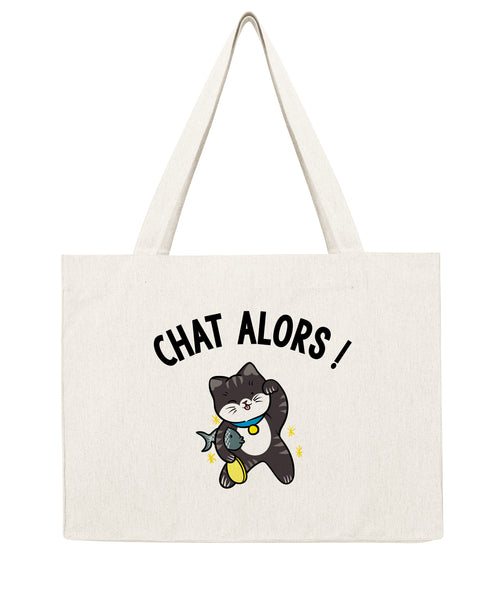 Chat alors neko - Shopping bag-Sacs-Atelier Amelot