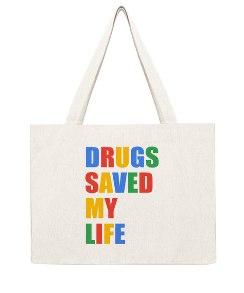 Drugs saved my life - Shopping bag-Sacs-Atelier Amelot