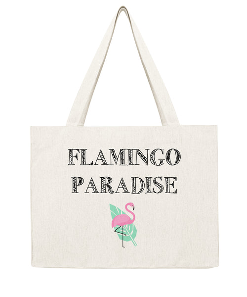 Flamingo Paradise - Shopping bag-Sacs-Atelier Amelot