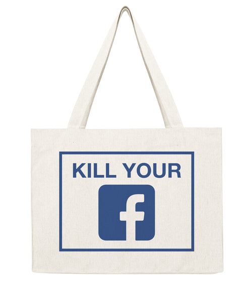 Kill your Facebook - Shopping bag-Sacs-Atelier Amelot