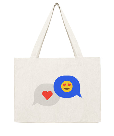 Cœur texto - Shopping bag