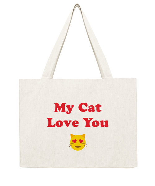 My cat love you - Shopping bag-Sacs-Atelier Amelot
