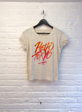 TH Gallery - Hello Tokyo - Crop top speckled Cream