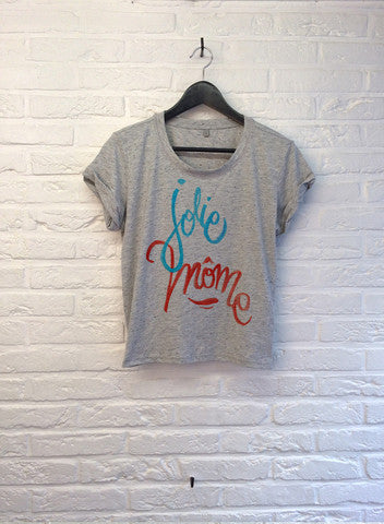 TH Gallery - Jolie Mome - Crop top Grey-T shirt-Atelier Amelot