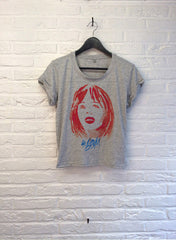 TH Gallery - La Boum 2 - Crop top speckled Grey-T shirt-Atelier Amelot