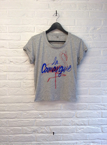 TH Gallery - La Camargue - Crop top speckled Grey-T shirt-Atelier Amelot