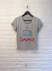 TH Gallery - Le Camioneur - Crop Top speckled Grey-T shirt-Atelier Amelot