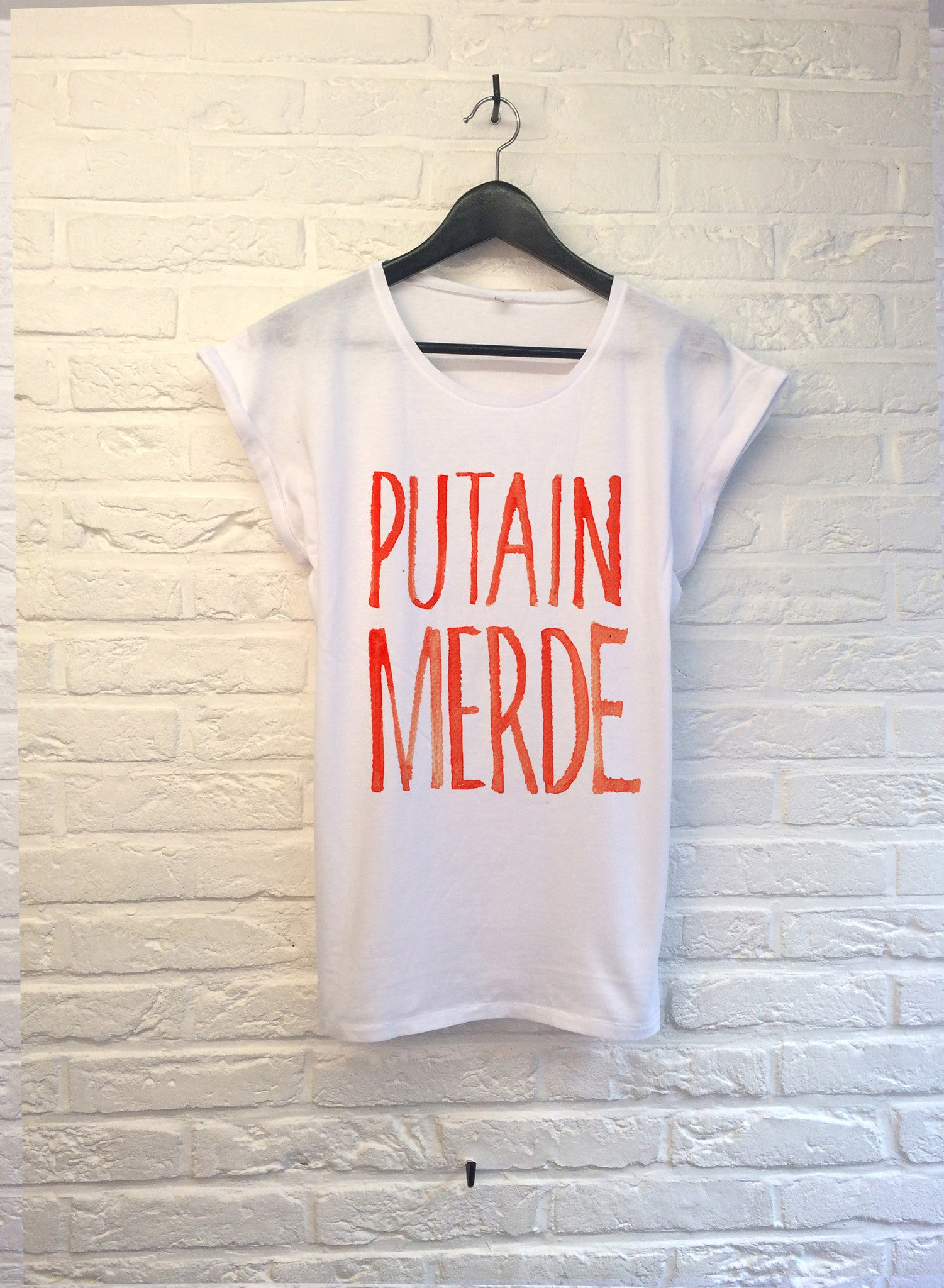 TH Gallery - Putain Merde - Femme-T shirt-Atelier Amelot