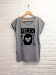 TH Gallery - Relax - Femme Gris-T shirt-Atelier Amelot