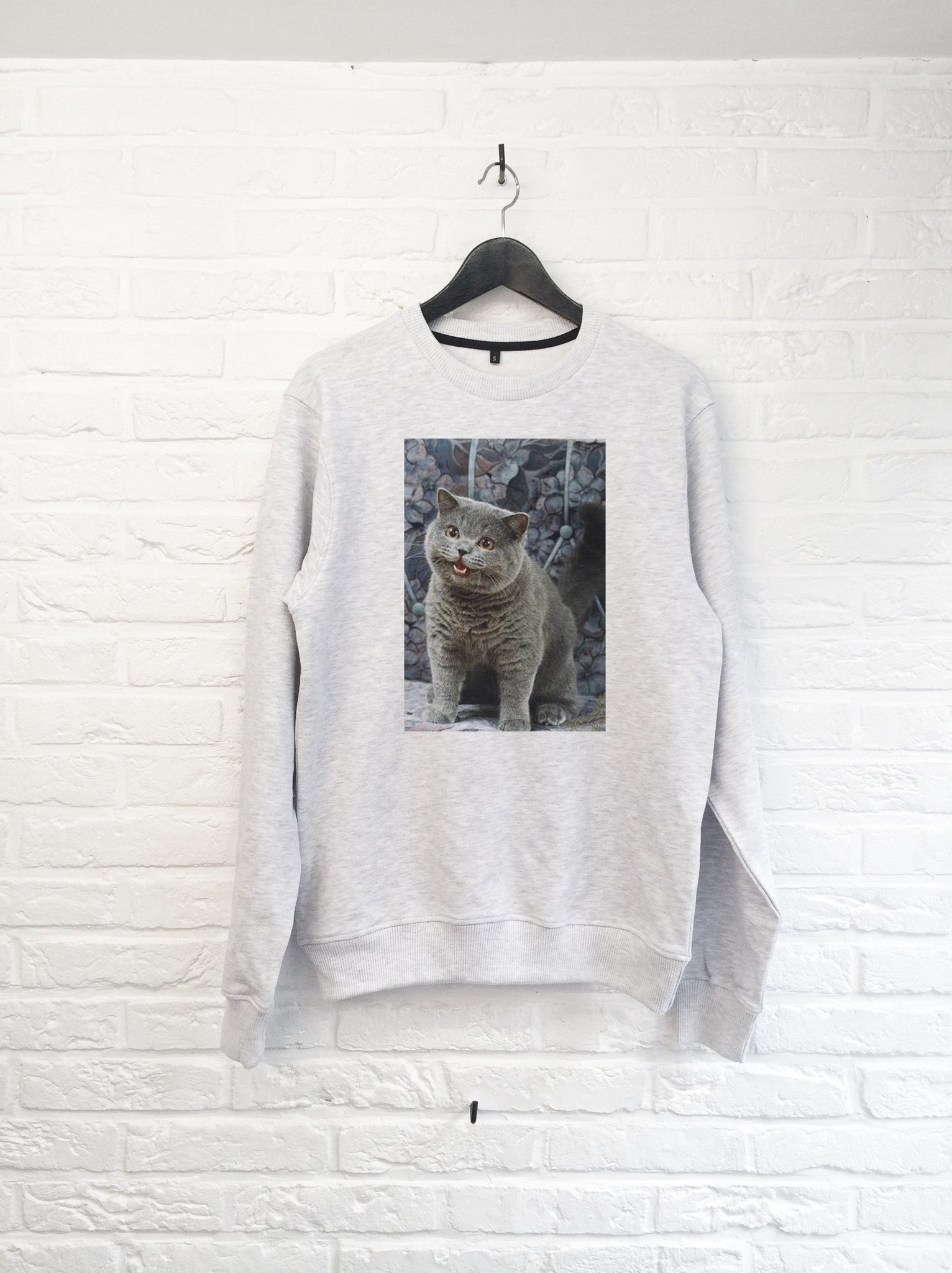 Chat Cheezburger - Sweat-Sweat shirts-Atelier Amelot