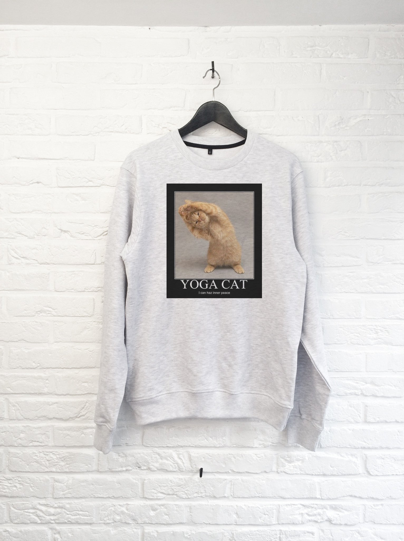 Yoga Cat - Sweat-Sweat shirts-Atelier Amelot
