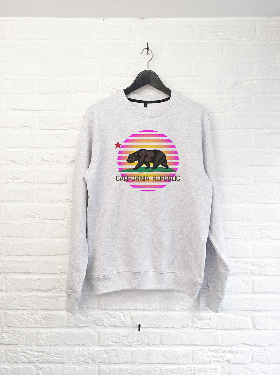 California Bear Rose - Sweat-Sweat shirts-Atelier Amelot