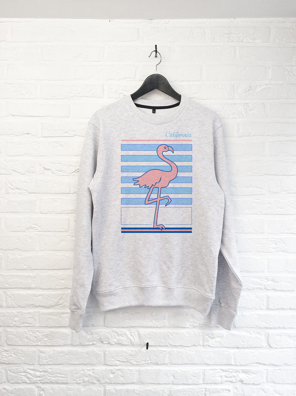 Flamant rose Californie - Sweat-Sweat shirts-Atelier Amelot