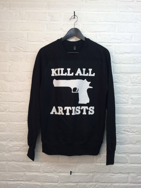 Kill All Artists - Sweat noir-Sweat shirts-Atelier Amelot