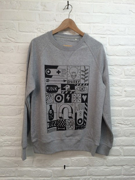 TH Gallery - Sparky Gris - Sweat-Sweat shirts-Atelier Amelot