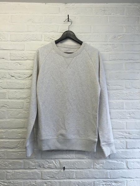 Sweat blanc chiné