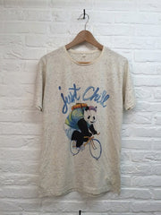 TH Gallery - Panda Just Chill Speckled-T shirt-Atelier Amelot