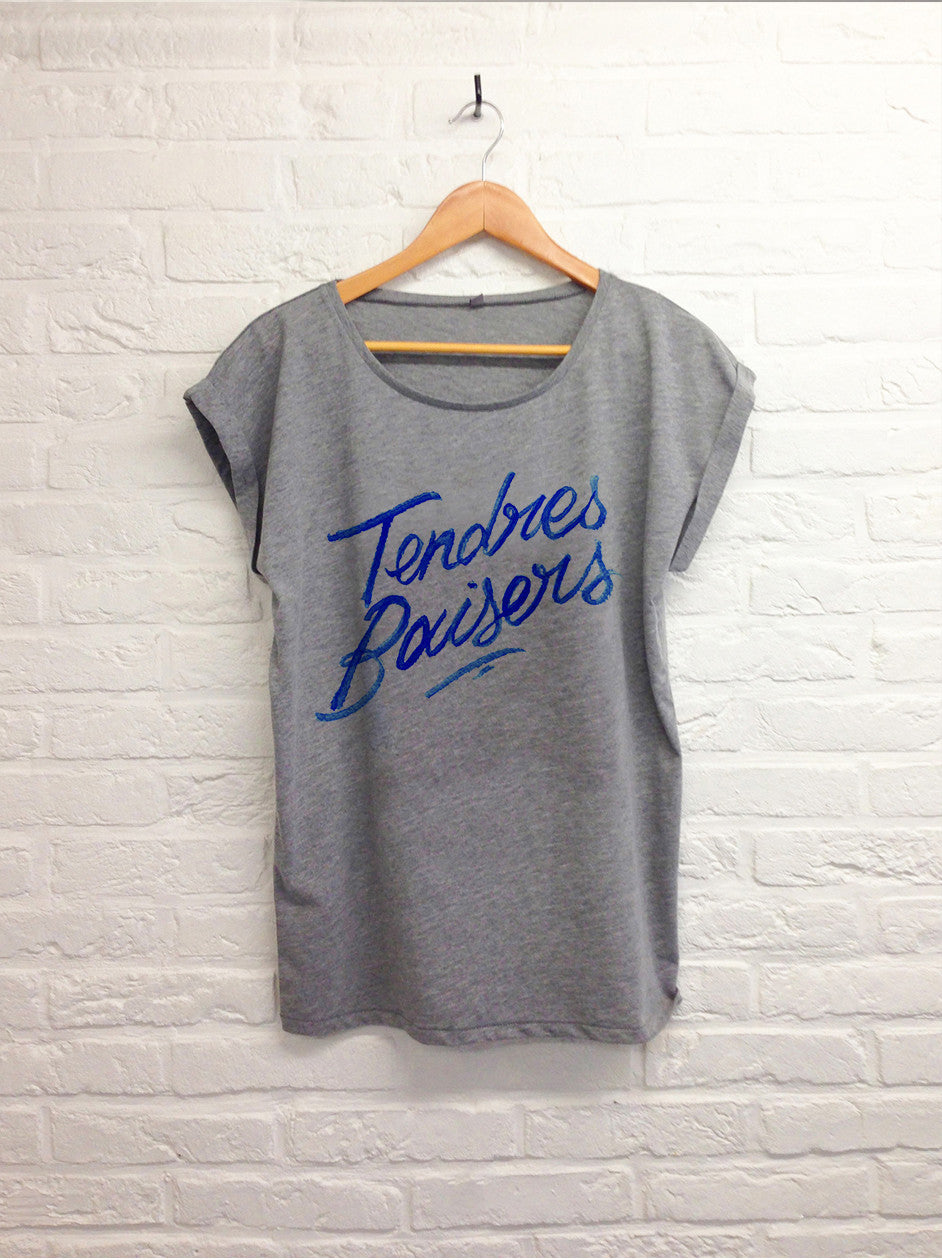 TH Gallery - Tendres baisers - Femme gris-T shirt-Atelier Amelot