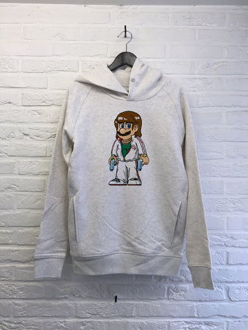 TH Gallery - Mario Bad Mafia - Hoodie Deluxe Creme chine