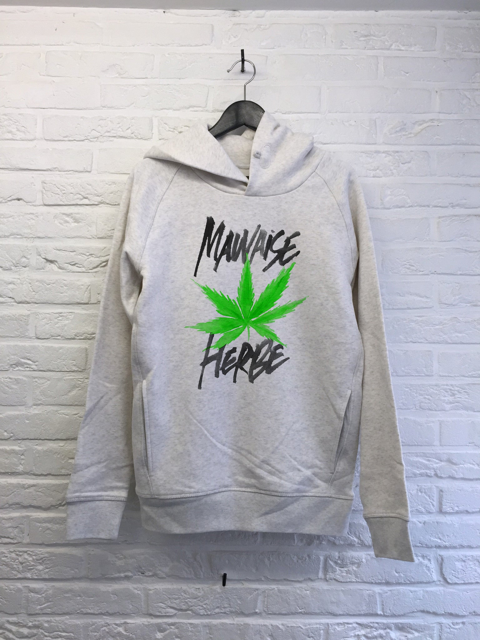 TH Gallery - Mauvaise Herbe - Hoodie Deluxe Creme chine