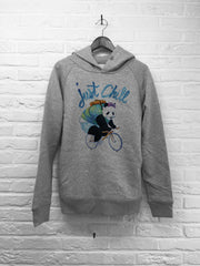 TH Gallery - Panda just Chill - Hoodie Deluxe Gris