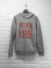 TH Gallery - Putain Merde - Hoodie Deluxe Gris