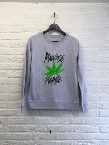 TH Gallery - Mauvaise Herbe - Sweat - Femme-Sweat shirts-Atelier Amelot