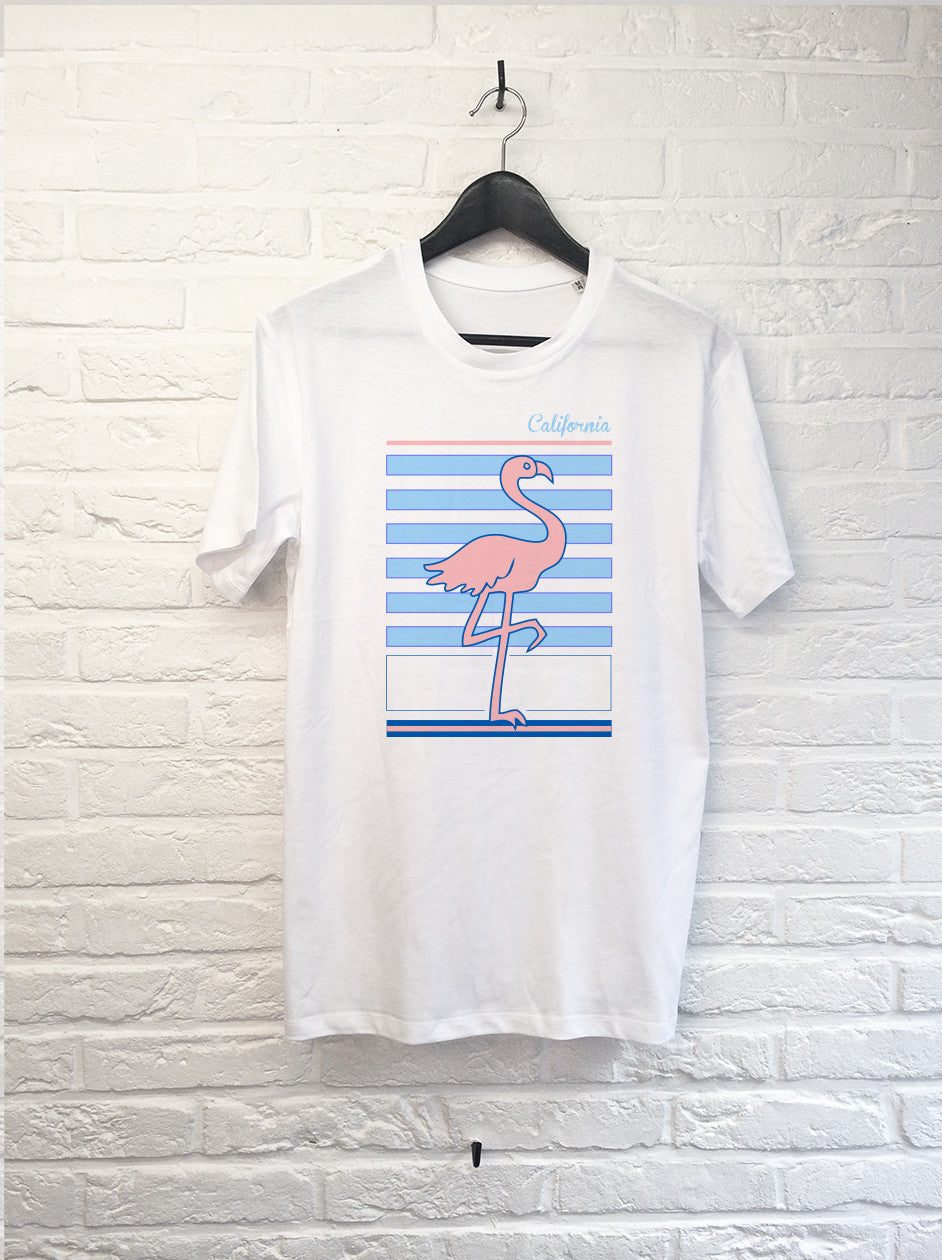 Flamant rose Californie-T shirt-Atelier Amelot