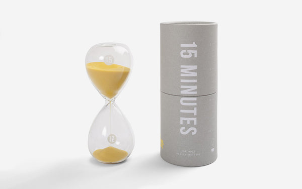 15 Minute Hourglass timer.