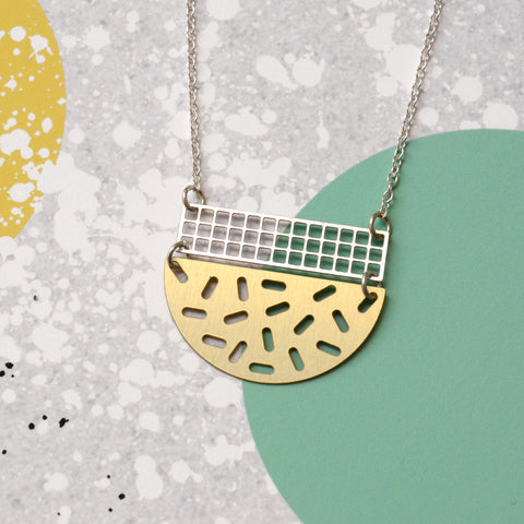 Composition necklace