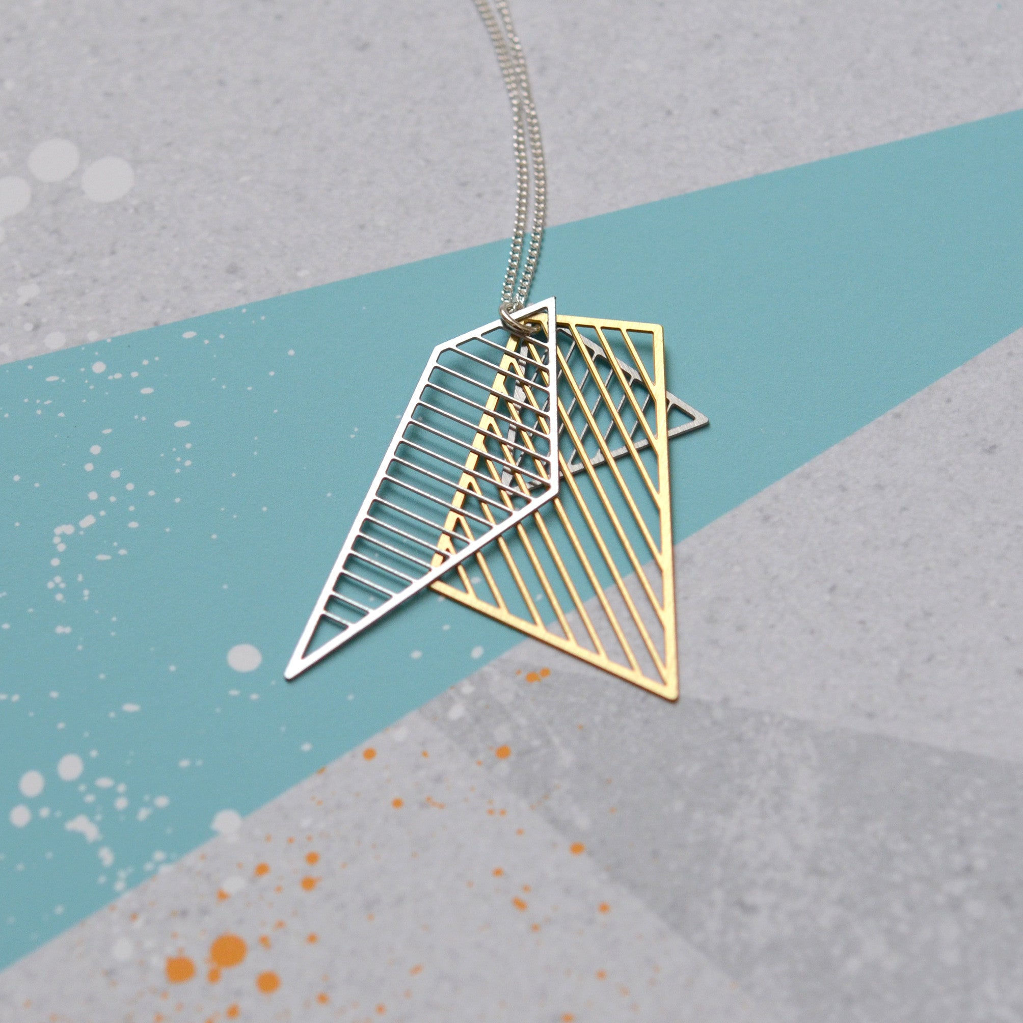 Layered shard necklace