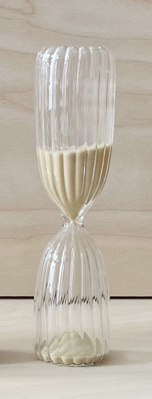 Hand blown 5 minute hourglass