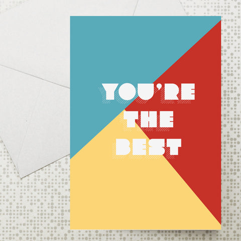 Colour block The Best card