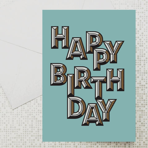 Bevelled Birthday card
