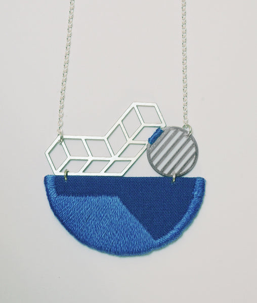 Horizon - Cobalt Blue pendant on white