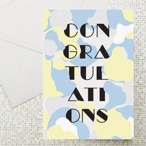 Cloud Congratulations card