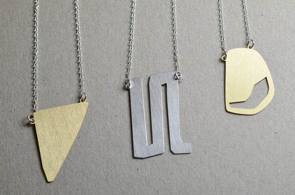 Fragment abstract necklace set
