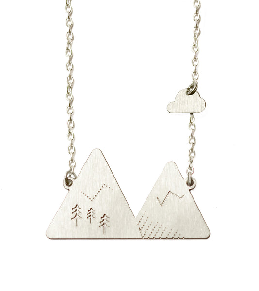 Alps necklace on white