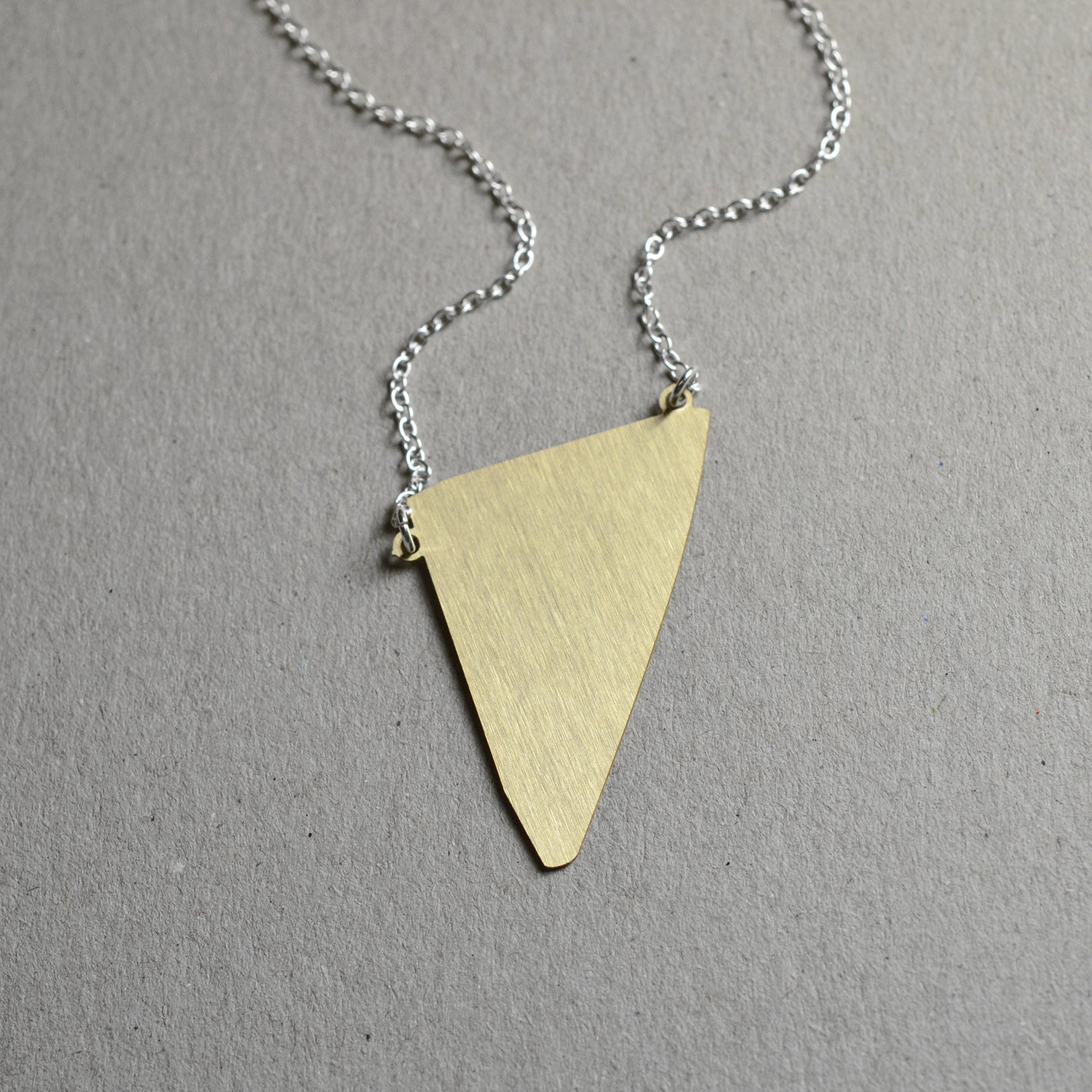 Fragment abstract necklace Brass