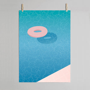 Float - swimming pool art print