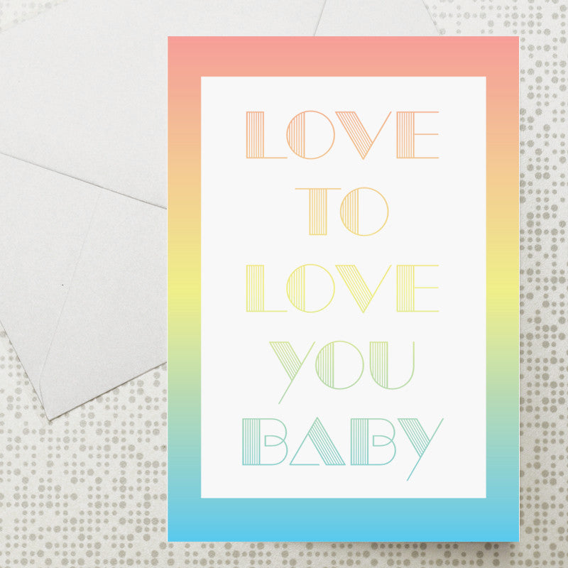 Love to Love You card
